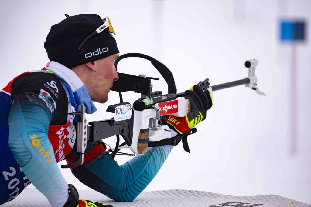 13.02.2019, Soldier Hollow, United States of America (USA): Fabien Claude (FRA) - IBU world cup biathlon, training, Soldier Hollow (USA). www.nordicfocus.com. © Manzoni/NordicFocus. Every downloaded picture is fee-liable.