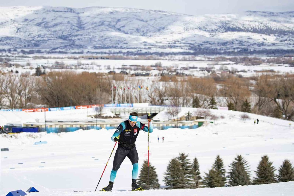 16.02.2019, Soldier Hollow, United States of America (USA): Fabien Claude (FRA) - IBU world cup biathlon, pursuit men, Soldier Hollow (USA). www.nordicfocus.com. © Manzoni/NordicFocus. Every downloaded picture is fee-liable.