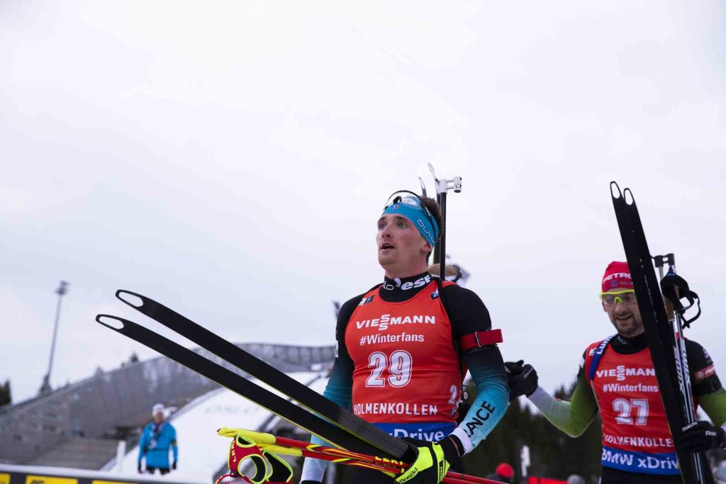 24.03.2019, Oslo, Norway (NOR): Fabien Claude (FRA) - IBU world cup biathlon, mass men, Oslo (NOR). www.nordicfocus.com. © Manzoni/NordicFocus. Every downloaded picture is fee-liable.